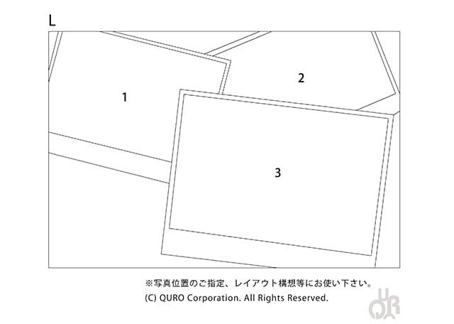 型番【L】画像配置図